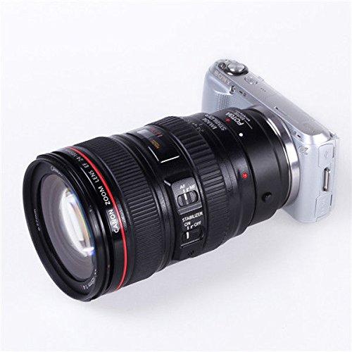 Fotga Auto Focus Lens Mount Adapter for Canon EOS EF EF-S Mount Lens to Sony E-mount NEX-3 NEX-3C NEX-3N NEX-5 NEX-5C NEX-5N NEX-5R NEX5T NEX6 NEX7 NEX-F3 A6000 A5000 A3500 A3000 A7 A7R Dslr Camera