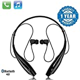 efito HBS-730 Bluetooth Stereo Sports Headset Compatible with Xiaomi, Lenovo, Apple, Samsung, Sony, Oppo, Gionee, Vivo Smartphones(Multicolour)