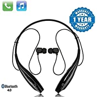 VOSAVO HBS-730 Neckband Bluetooth Headphones Wireless Sport Stereo Headsets Handsfree with Microphone for Android, Apple Devices (Black)