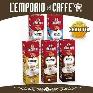 100 Capsule Caffè Espresso Caffitaly Sistem Cagliari Smart gusti a scelta 10 box da 10 capsule 100% Originale