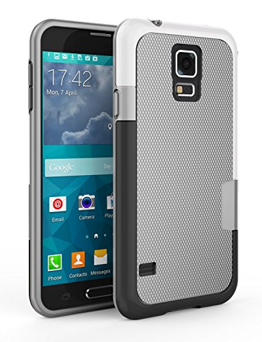 Samsung Galaxy S5 Case, Zectoo Ultra Slim 3 Color Hybrid Impact Anti-slip Shockproof Soft TPU Hard PC Bumper Extra Front Raised Lip Case Cover for Samsung Galaxy S5 I9600 GS5 G900V - Light (Pcs Color)