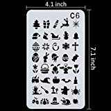 24 Pieces ,Over 1200 New Different Patterns of Journal Stencil Painting Stencil Letter Stencil Planner Stencil for DIY Craft,Scrapbooking and DIY Craft