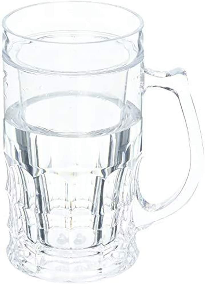 Wyndham House KTBRGLS 16.9oz Beer Mug with Freezing Gel, set of 1, Clear
