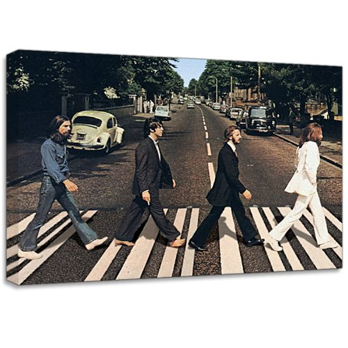 Beatles Abbey Road Canvas Art Print Poster Amazoncouk Kitchen Home