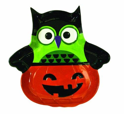 Boston Warehouse All Owl's Eve Pumpkin Chip and Dip Platter