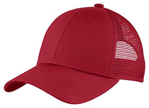 Port Authority Unisex-adult Adjustable Mesh Back Cap (C911) -Chili Red -OSFA