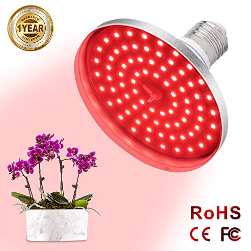 39W Red Led Light Bulb Red 660nm LED Plant Light for Indoor Plants Flowering Bloom and Fruiting Grow Light Bulb Relassy