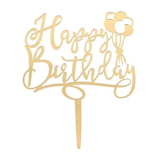 BESTOYARD Cake Toppers Feliz cumpleaños Cupcake Toppers Fiesta de cumpleaños decoración Suministros