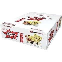 Ooh Snap Nutrition Crispy Protein Bar, Salted Caramel Pretzel, 7 Count