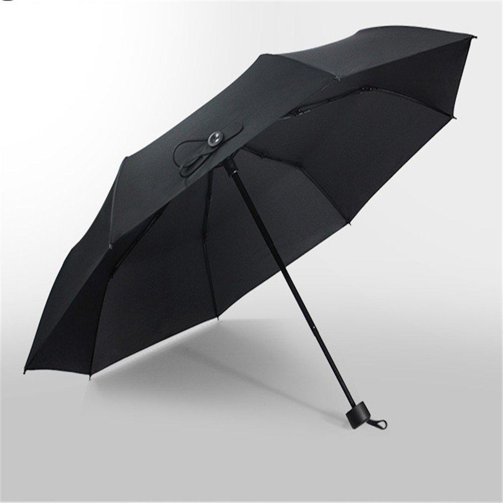 YFF@ILU Citron noir cadeau d'amoureux d'affaires parapluie Parapluie pliant de couleur solide léger et mobile commerce