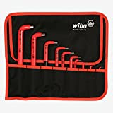 Wiha 13693 Insulated Metric Hex L-Key Set, 1.5 - 12.0mm 10 Piece In Canvas Pouch