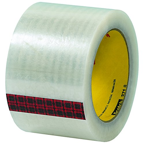 Scotch T905371 Clear #371 Carton Sealing Tape, 3