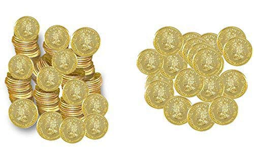 Play Kreative Plastic Gold Coins - Fake Money Party Favors -
