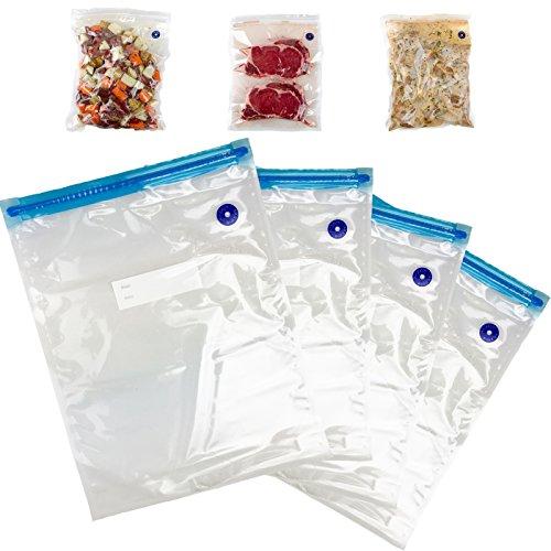 Vacuum Sealer Bags- Air Lock Vacuum Sealer Bags, 10 Heavy-Duty Commercial Grade Sealer Bags Universal for ALL Handheld Vacuum Sealers