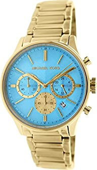 Michael Kors Chronograph Turquoise Dial Gold-tone Ladies Watch MK5910