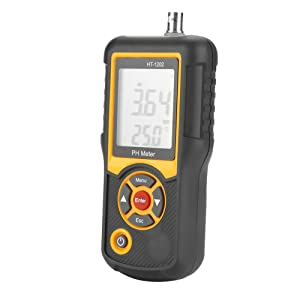 PH Tester HT-1202 Digital Water Quality Tester 0~14PH Temperature Tester for Water, Pool, Hydroponics
