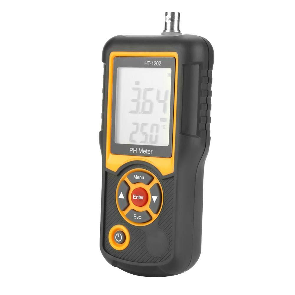 PH Tester HT-1202 Digital Water Quality Tester 0~14PH Temperature Tester for Water, Pool, Hydroponics, Aquarium