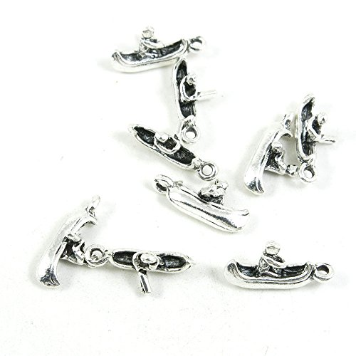 240 Pieces Antique Silver Tone Jewelry Making Charms Findings Fashion Wholesale Supplies Pendant Lots Bulk Supply SC2687 Boating Rowing Canoe from 4044 Charms