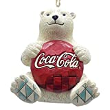 polar bear christmas ornaments - Enesco Coca-Cola by Jim Shore 4059722 Coke Polar Bear with Coke Logo Hanging Ornament