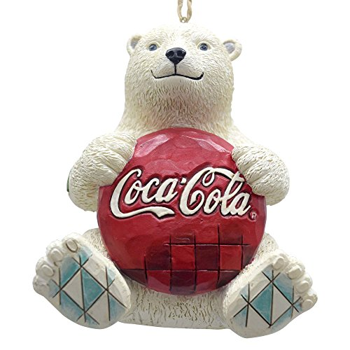 Enesco Coca-Cola by Jim Shore 4059722 Coke Polar Bear with Coke Logo Hanging - Decorations Coca Christmas Cola