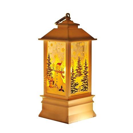 Amazon.com: Super1798 - Lámpara de mesa de Navidad, diseño ...