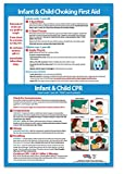 Infant and Child CPR Steps and Choking First Aid - 12 in x 18 in, Non-laminated Poster