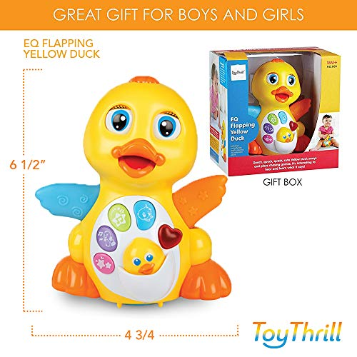 ToyThrill Duck Toy – Musical Baby Toys for 1 Year Old Girl & Boy, Babies, Infant or toddler – Music, Light Up & Dancing…
