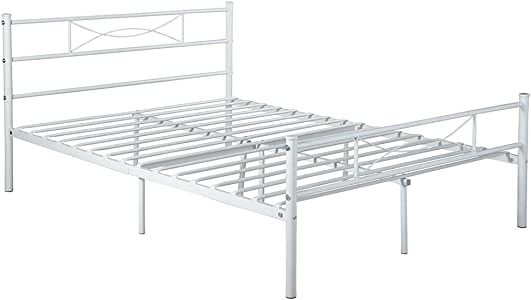 Amazon Com Symylife Queen Size Bed Frame Metal Bed