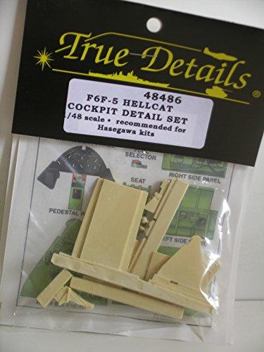 True Details---1/48 Scale F6F-5 Hellcat Cockpit Detail Set---Resin Plastic