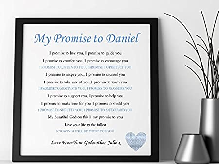 pure essence greetings personalised godchild poem framed canvas