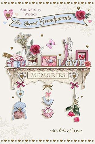 Grandparents - Anniversary Congratulation Memories Treasure Greeting Card