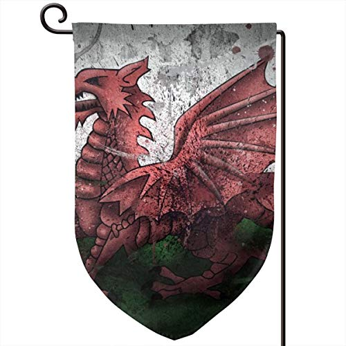Private Bath Customiz Wales Dragon Symbol Flag Paints Garden Flag Vertical Double Sided 12.5 X 18 Inch Spring Summer Welcome Yard Decor Double Sided -