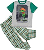 Cherokee Little Boys' Dinosaur Pajamas Shirt and Pants Set - Green, Lizard Cowboy (10/12)