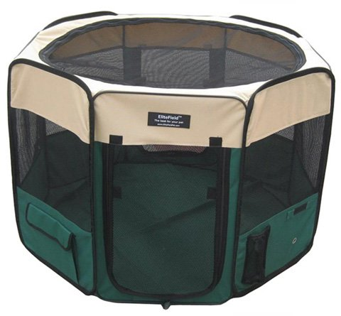 EliteField 2-Door Soft Pet Playpen, Exercise Pen, Multiple Sizes and Colors Available for Dogs, Cats and Other Pets 51tSKiwmMvL