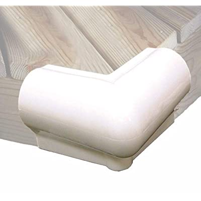 Taylor Made Products 46015 90 Degree Vinyl Dock Corner Bumper (White): Sports & Outdoors