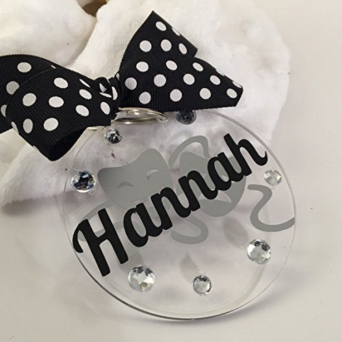 Drama Acting Bag Tag Personalized with Your Name and Your Colors