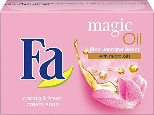 Fa Festseife Magic Oil, Duft des Pinken Jasmin, 6er Pack (6 x 100 g)