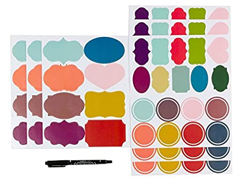 Custom Personalized Assorted Colors Adhesive Name Tag Labels Stickers for Mason Jar or Canning Jars,Gift (Pint Mason Jar)