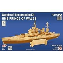 HMS Prince of Wales: Woodcraft Quay Battleship Construction Wooden 3D Model Kit P216 Age