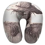 Neck Pillow with Resilient Material Evil Wood Straw Man U Type Travel Pillow Super Soft Cervical Pillow