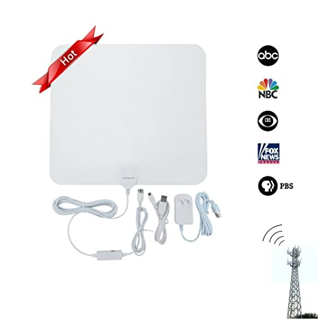 HDTV Antenna 50 Miles Long Range Vinovo Strong Signal High Gain Amplified Indoor TV Antenna with