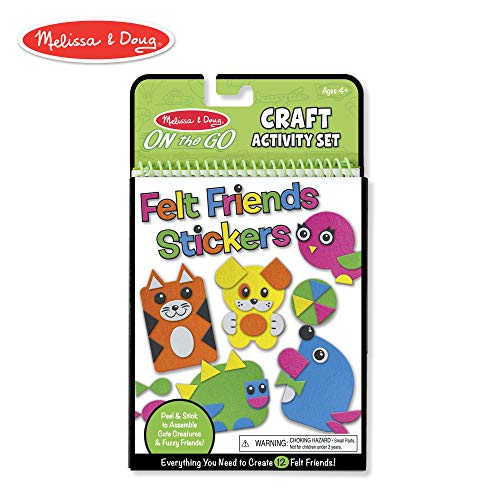 - Melissa & Doug On-the-Go Felt Friends Craft Activity Set, Step-By-Step Illustrated Instructions, Easy to Store, 188 Felt Stickers, 10