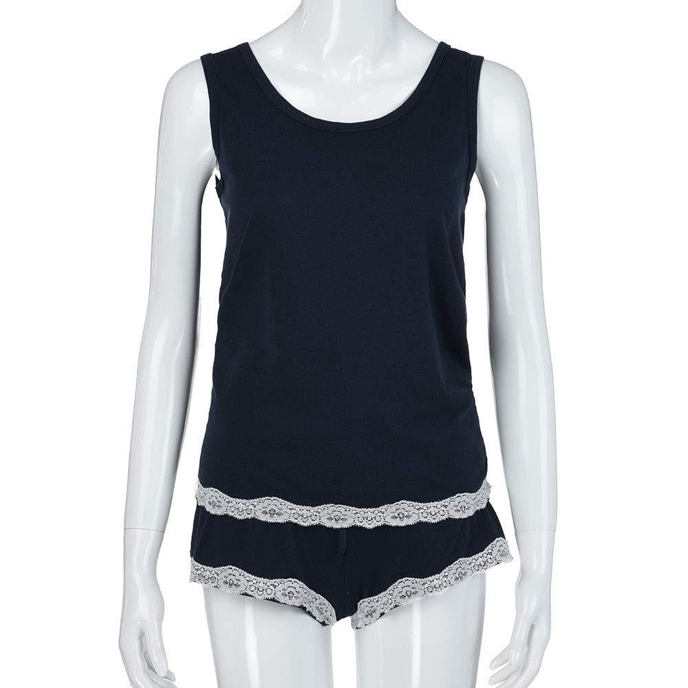 Xinantime Pijama para Mujer, Conjunto de Pijamas sin Mangas a ...
