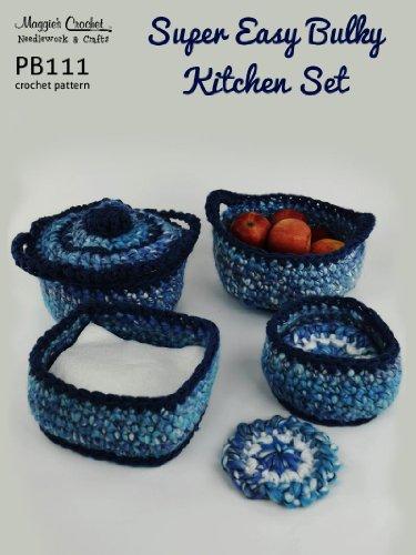 PB111-R Super Easy Bulky Kitchen Set Crochet Pattern