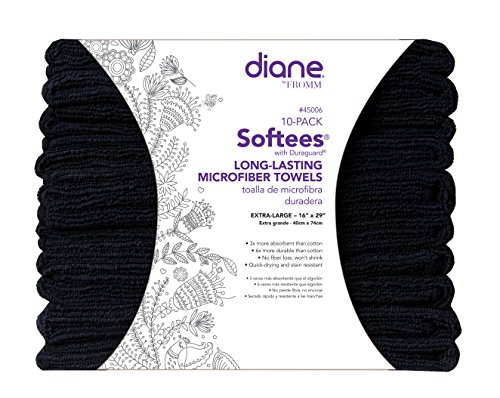 Softees Towels - Softees Towels with Duraguard, Black, 10pk by Fromm International,absorbent, stain resistant, quick dry, durable material, won't shrink, extra large, large, super absorbent, long lasting, ultra absorbent