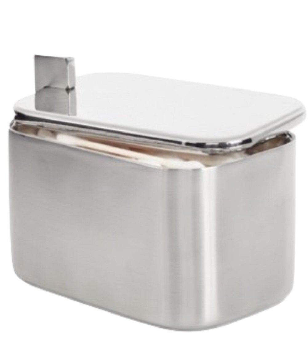 Hotel Collection Hotel Modern Brushed Stainless Steel Jar Bedding