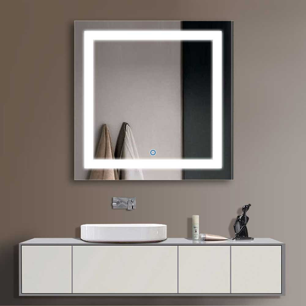 "Decoraport 36"" Square LED Bathroom Mirror Illuminated Lighted Vanity Wall Mounted Mirror with Touch Button (A-CK168-E) by Decoraport"