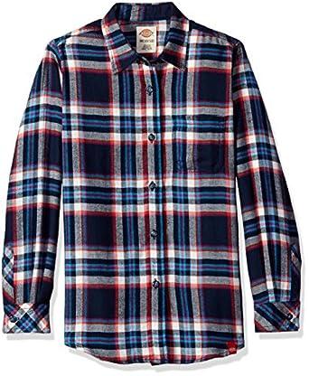 Dickies Big Girls 39 Long Sleeve Flannel Shirt