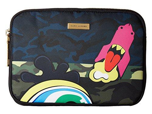 Marc Jacobs Women's Camo Julie Verhoeven Mini Tablet Case Navy Multi Laptop Bag