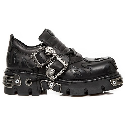 Women S2 M Ready Metallic Stock Metallic New Black Men Metallic Rock Leather 992 OwqxtYt1XR